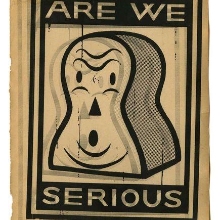 Gary Taxali Art Print - Are We Serious
