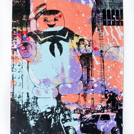 Bobby Hill Art - Stay Puft - Blue, Purple & Peach Variant