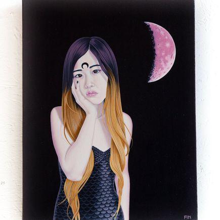Maria Finna Original Art - Moon Gloom