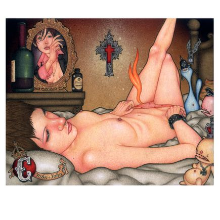 John John Jesse Art Print - C is For Crucifix