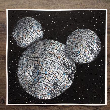 Jeff Gillette Original Art - Mickey Death Star - Original Artwork