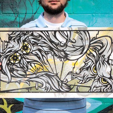 Malt Art Print - Splitting Atoms Green/Yellow Edition