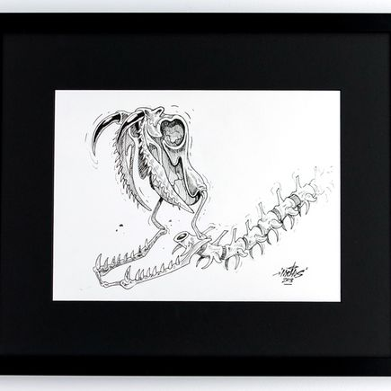 Nychos Original Art - Fang You Very Much - Ink Drawing