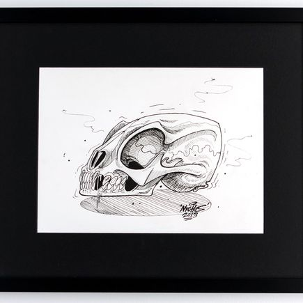 Nychos Original Art - Skull of an Unknown Spieces - Ink Drawing