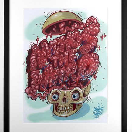 Nychos Original Art - Don't Trust Your Brain 'Cause It Might Write My Name - Original Painting
