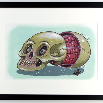 Nychos Original Art - Dissection of a Disordered Human Skull - Original Painting