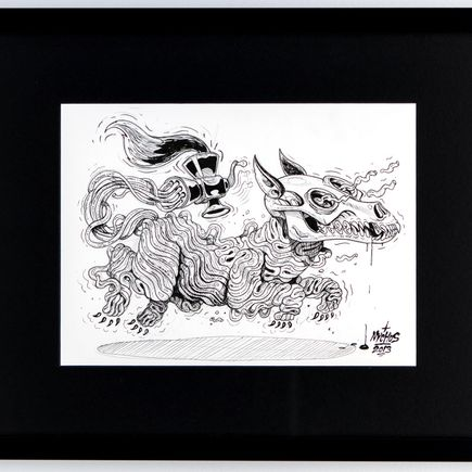 Nychos Original Art - Fleishwolf - Ink Drawing