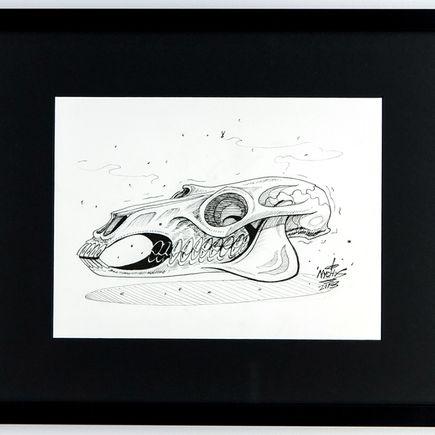 Nychos Original Art - Horse Skull - Ink Drawing