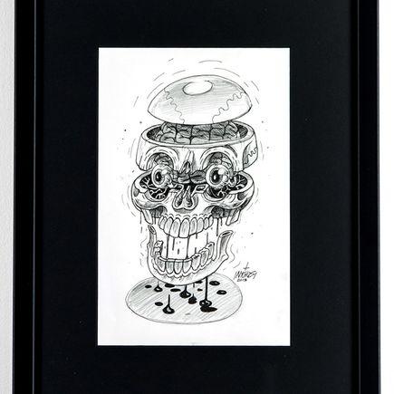 Nychos Original Art - Losing Sauce - Ink Drawing