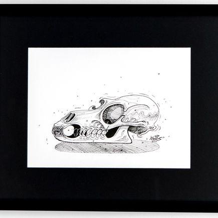 Nychos Original Art - Canis Lupis - Ink Drawing