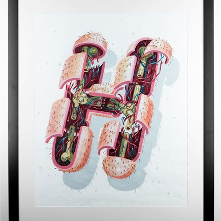 Nychos Original Art - Dissection Of The Letter H