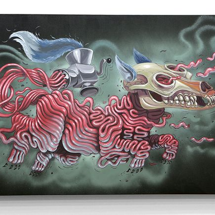 Nychos Original Art - Fleishwolf - Original Painting