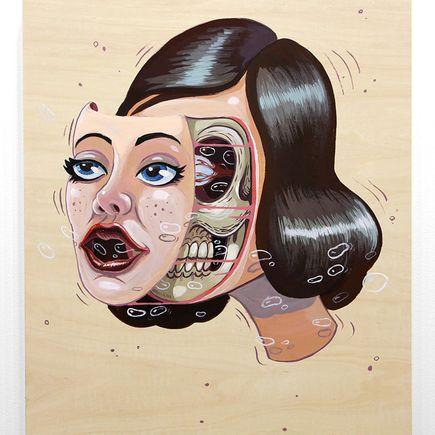 Nychos Original Art - Pin-Up Face Off - Original Painting