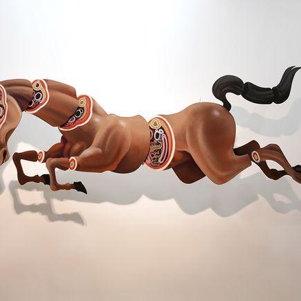 Nychos Original Art - Cross Section of a Mustang - Original Painting