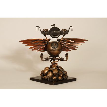 Rick Griffin Art - Soundproof Eyeball - Bronze Edition