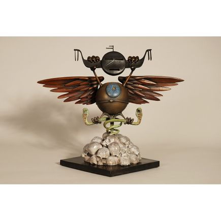 Rick Griffin Art - Soundproof Eyeball - Bronze Edition - Patina Variant