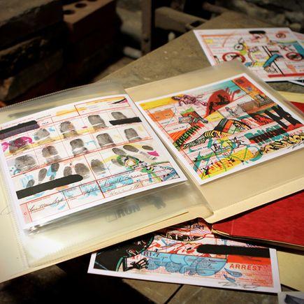 Rime Art Print - Arrest Sheets - Misdemeanor Edition