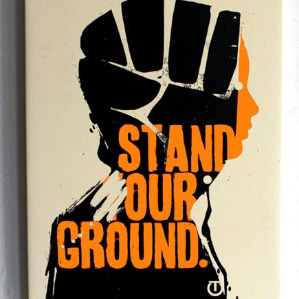 Tes One Art Print - Stand Our Ground - Canvas Wrap