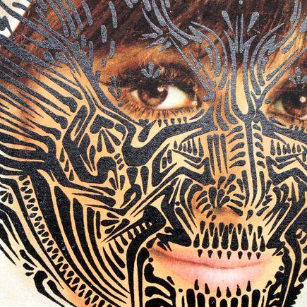 Stinkfish Art Print - Quetzal Woman (Black)