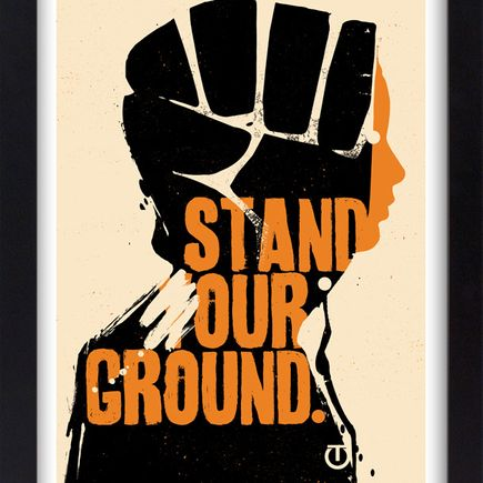 Tes One Art Print - Stand Our Ground - Screen Print