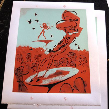 Glenn Barr Art Print - Trouble In Mind - RARE PROOFS
