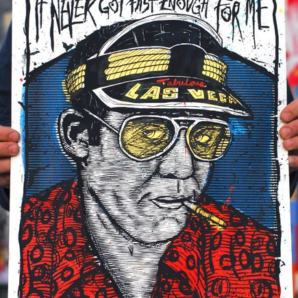 Zeb Love Art Print - Hunter S Thompson variant