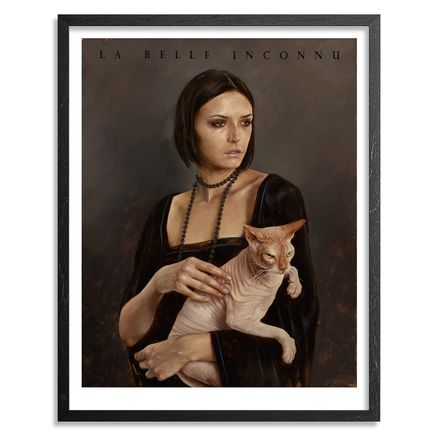 Aaron Nagel Art Print - Lady With Sphinx - Limited Edition Prints