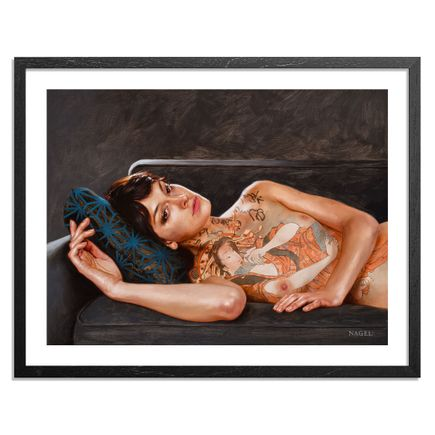 Aaron Nagel Art Print - Reclining With Teraoka - Standard Edition