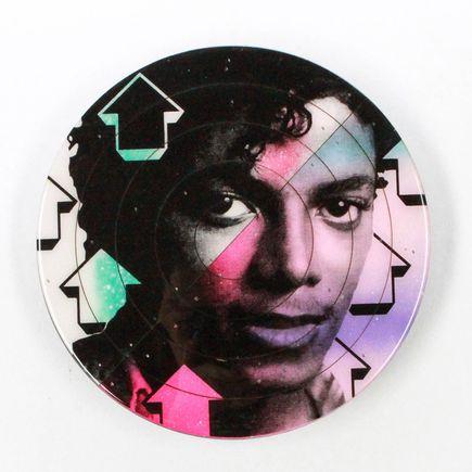 Tavar Zawacki Art - Cut The Record - Michael Jackson #5 - Hand-Painted Multiple
