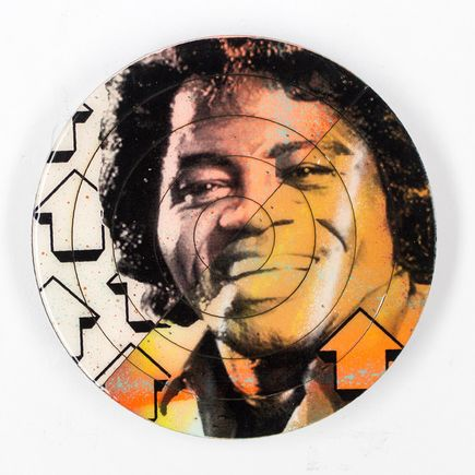 Tavar Zawacki Hand-painted Multiple - Cut The Record - James Brown #2 - Hand-Painted Multiple