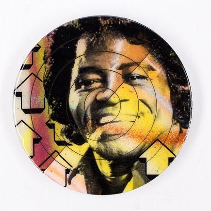 Tavar Zawacki Art - Cut The Record - James Brown #4 - Hand-Painted Multiple
