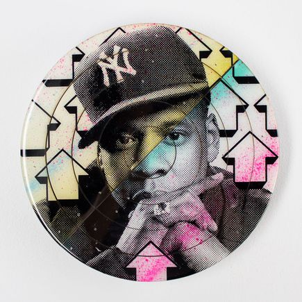 Tavar Zawacki Art - Cut The Record - Jay-Z #1 - Hand-Painted Multiple