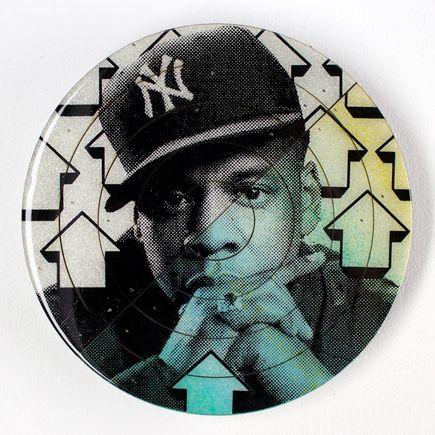 Tavar Zawacki Art - Cut The Record - Jay-Z #3 - Hand-Painted Multiple