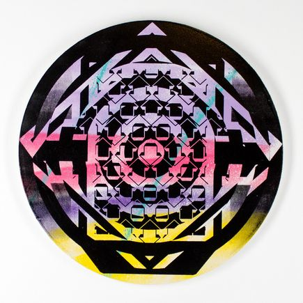 Tavar Zawacki Hand-painted Multiple - Psychedelic Twister 04