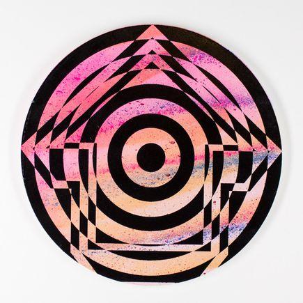 Tavar Zawacki Hand-painted Multiple - Psychedelic Bullseye 01
