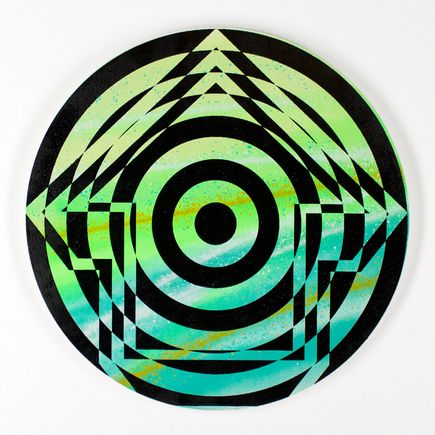 Tavar Zawacki Hand-painted Multiple - Psychedelic Bullseye 02