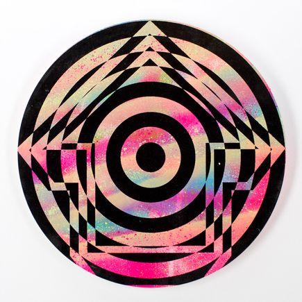 Tavar Zawacki Hand-painted Multiple - Psychedelic Bullseye 03