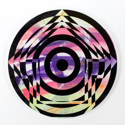 Tavar Zawacki Hand-painted Multiple - Psychedelic Bullseye 04