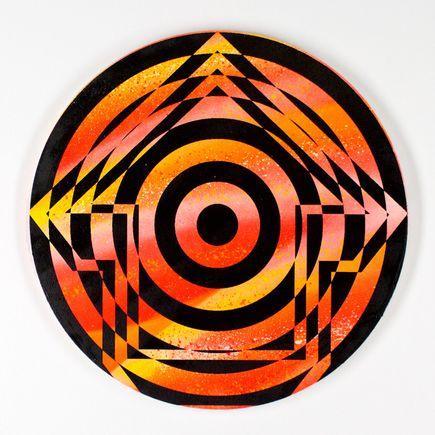 Tavar Zawacki Hand-painted Multiple - Psychedelic Bullseye 05