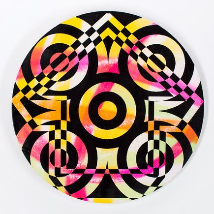 Tavar Zawacki Hand-painted Multiple - Psychedelic Dynamic - 02