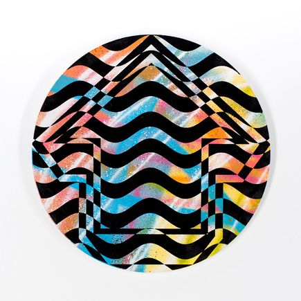 Tavar Zawacki Hand-painted Multiple - Psychedelic Waves - 04