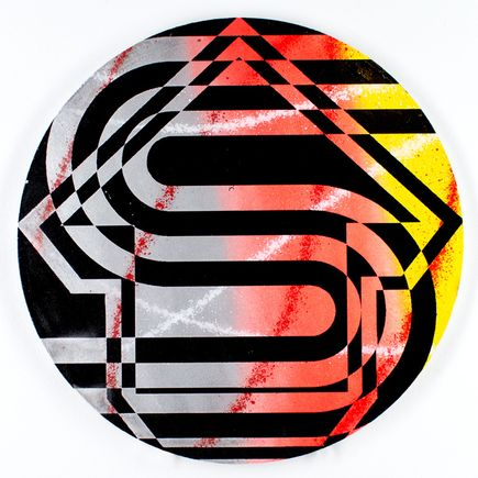Tavar Zawacki Hand-painted Multiple - Psychedelic Sunset Strip #3