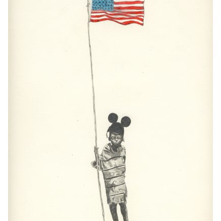 Adam Batchelor Art Print - Flag Kid