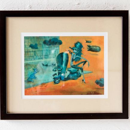 Glenn Barr Art Print - Afternoon Blues Framed Print