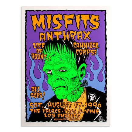 Alan Forbes Art - Misfits & Anthrax Aug. 7th at The Palace Los Angeles, California