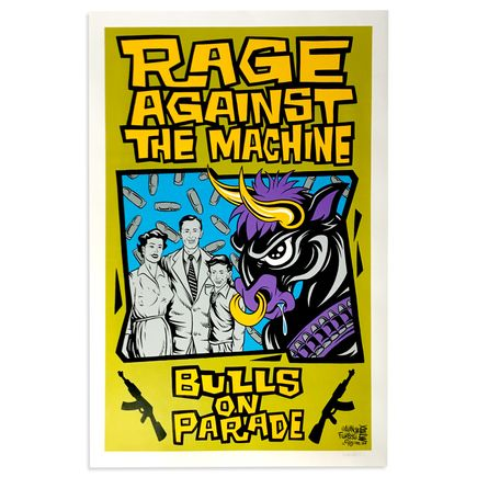 Alan Forbes Art - Rage Against The Machine - Bulls On Parade