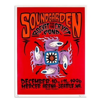 Alan Forbes Art - Soundgarden - December 10th & 11th, 1996 at Mercer Arena