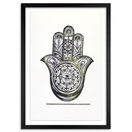 Alice Mizrachi Art Print - Hamsa - Green Variant