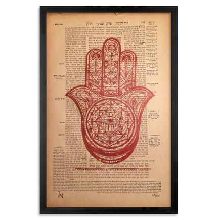Alice Mizrachi Art - Hamsa - Torah Variant