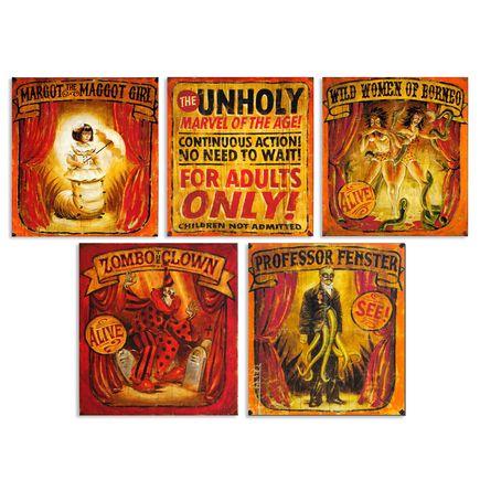 John Dunivant Art Print - Theatre Bizarre Banner Series 5-Pack